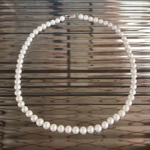 Freshwater Pearl Necklace with Sterling Clasp